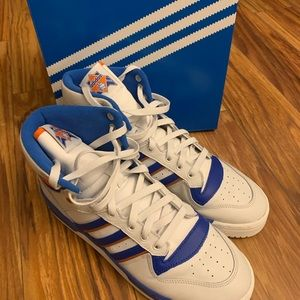 Adidas rivalry men's sneakers orange blue size 10